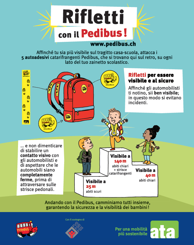 Réfléchis avec le Pedibus !