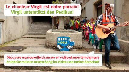 Virgil parraine le Pedibus Fribourg