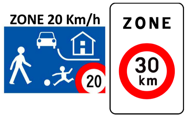 Petit rappel sur les zones 20 et 30 km/h