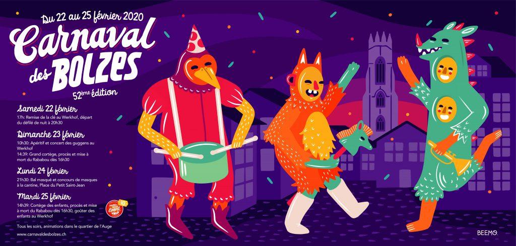 Venez vivre le Carnaval des Bolzes avec le Pedibus!