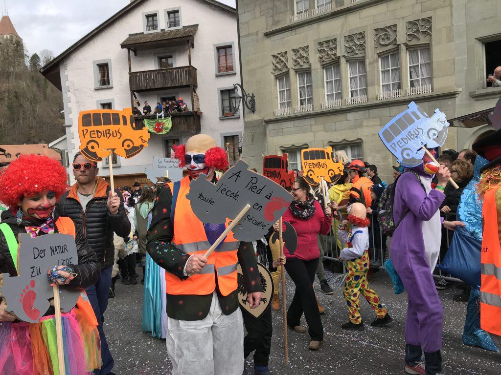 Recette réussie pour le Pedibus au carnaval des Bolzes !