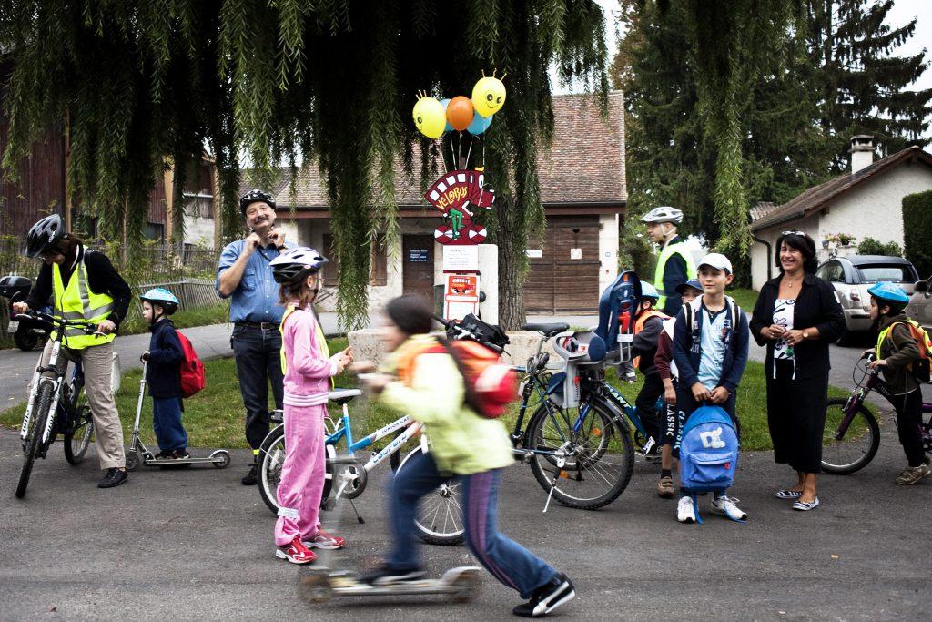 Dans le sillage des Championnats du monde de cyclisme en Valais,  le Vélobus est dans les starting blocks !