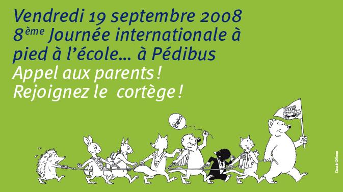 Journée internationale à pied à l'école 2008