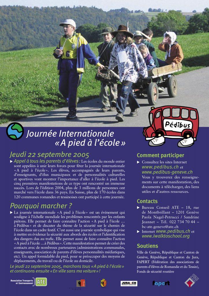 Journée internationale à pied à l'école 2005