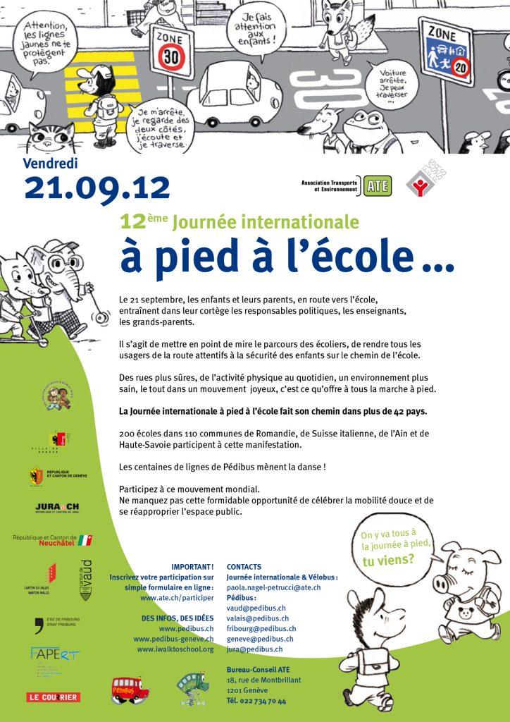 Journée internationale à pied à l'école 2012