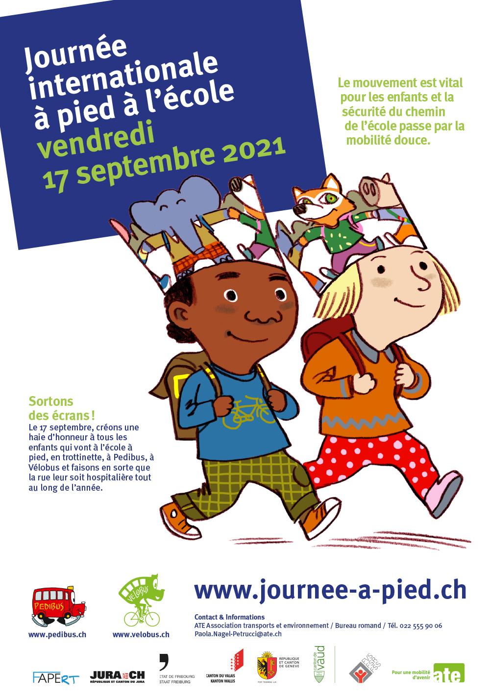 Journée internationale à pied à l'école 2021