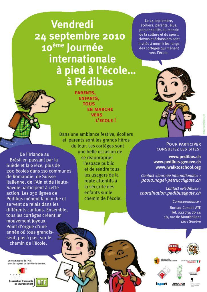 Journée internationale à pied à l'école 2010