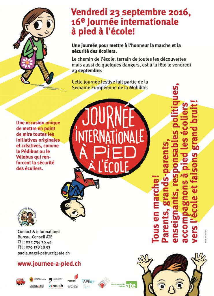 Journée internationale à pied à l'école 2016