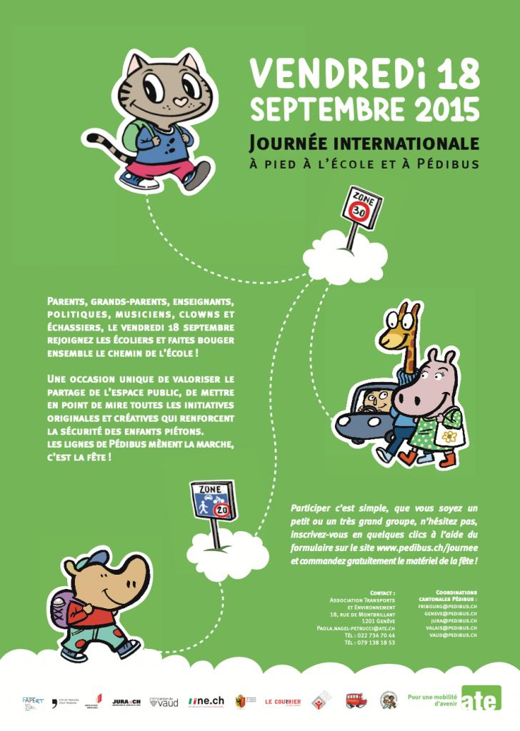Journée internationale à pied à l'école 2015