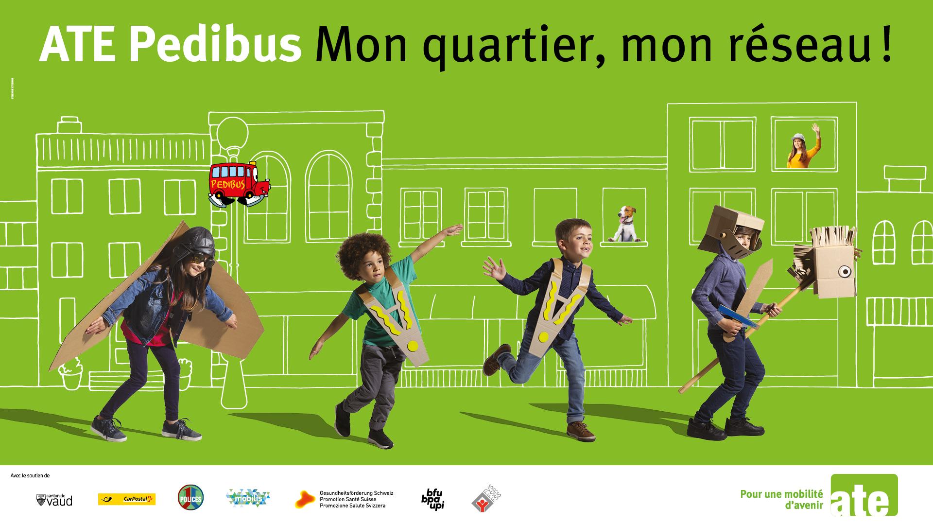Partenariat Pedibus et transports publics