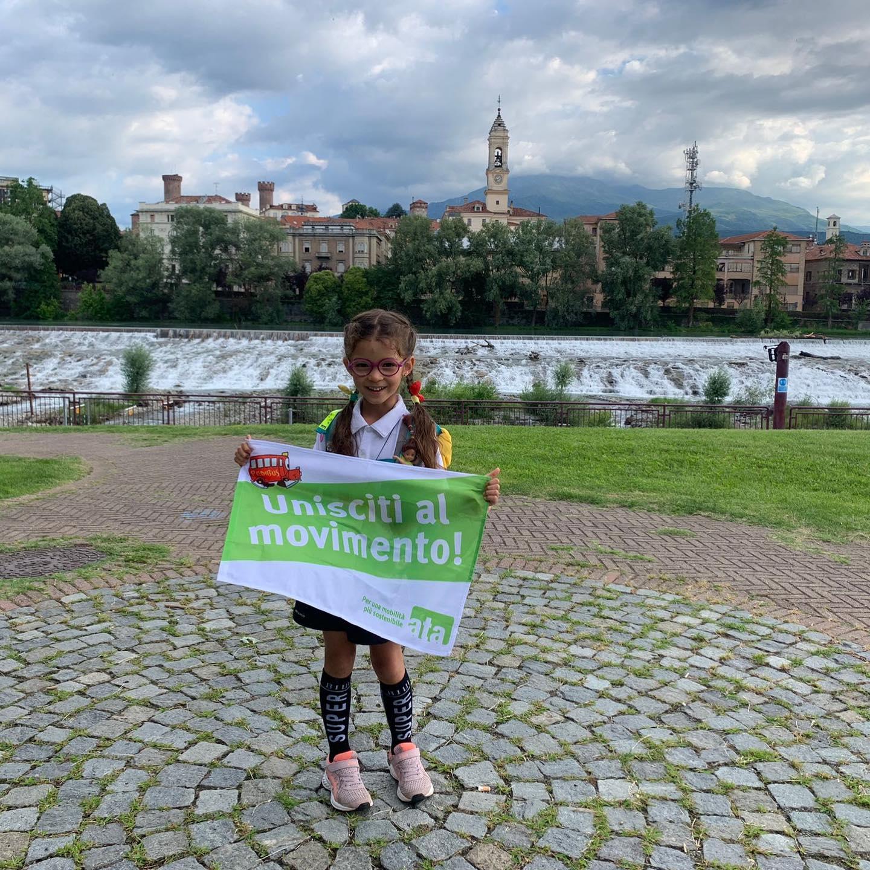 Roy Bella, 5 anni, ambasciatrice Pedibus Ticino ha concluso la sua impresa!