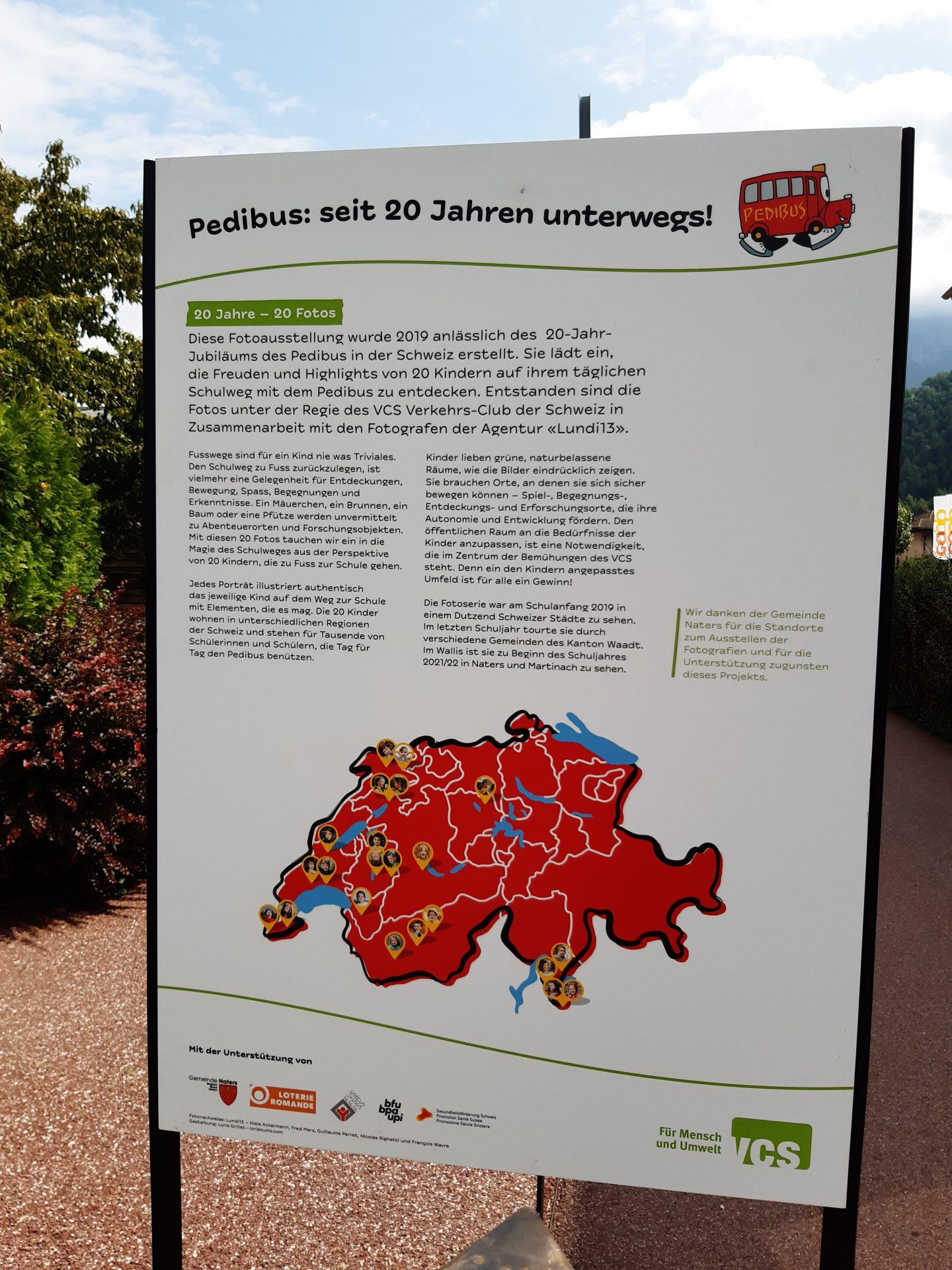 Pedibus-Ausstellung in Naters