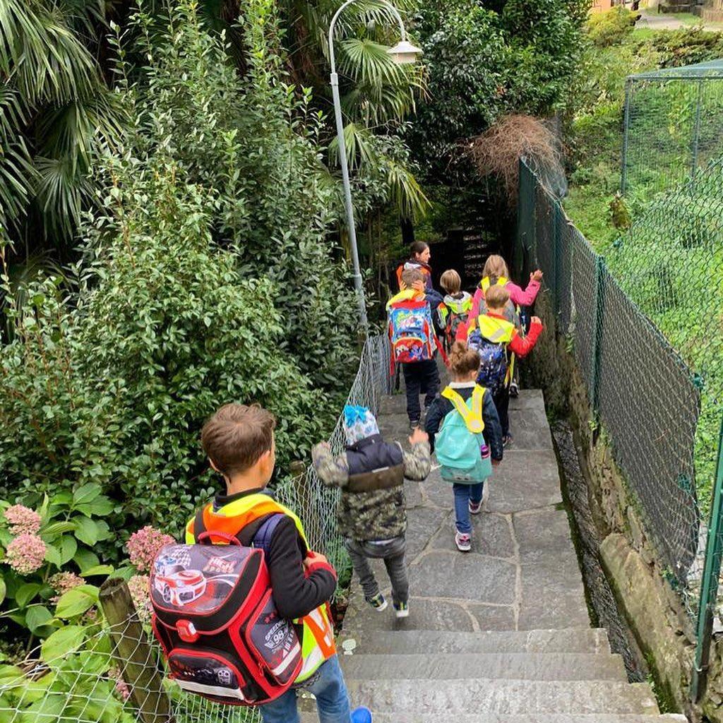 Brissago: oltre la metà dei bambini viaggiano in Pedibus!